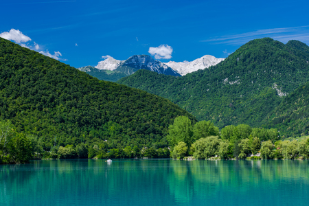 Julian Alps and Most na Soci Lake, Slovenia