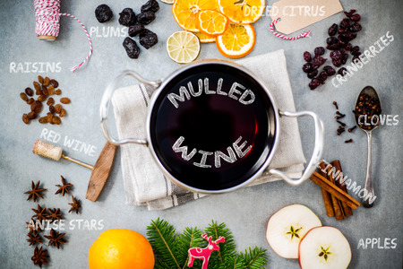 Ingredients for mulled wine.