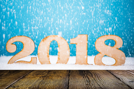 New Year montage and display background.