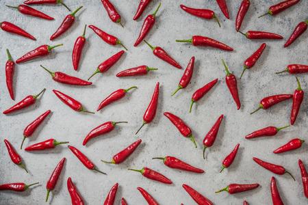 Red chili peppers random design.