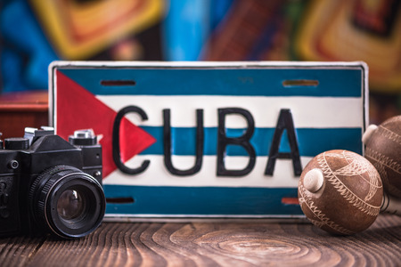 Travel to Cuba concept, related items.
