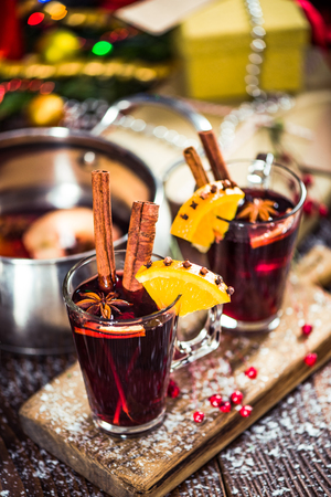 Warming hot mulled wine.
