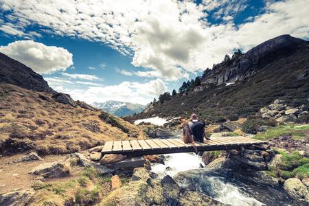 Bergen van Adorra, hikker en hond.