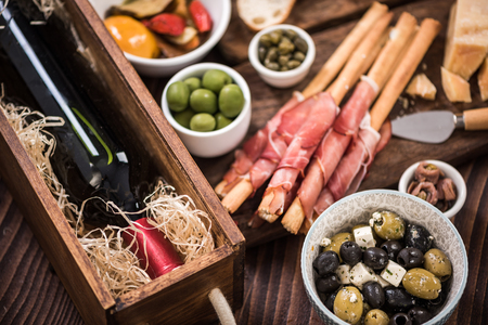Tapas made for sharing at party or in bar.