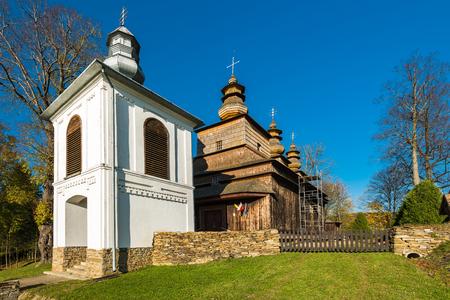 Orthodox wooden church in Wislok Wielki,Bieszczady,Poland. One of many located in Carpathian Mountains.