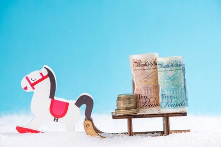 British money, Cyber Monday,Black Friday Christmas sale concept.