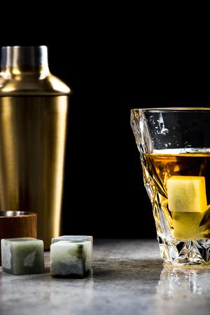 Elegant glass of whiskey.