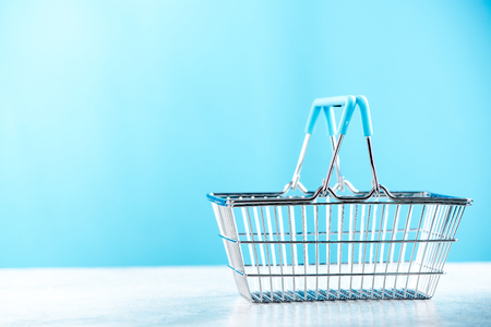 Shopping basket,copy space.