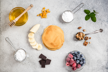 Recipe for perfect pancakes, border background.