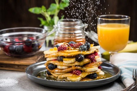 Celebrating Pancake Day or Shrove Tuesday. Stock fotó - 92517304