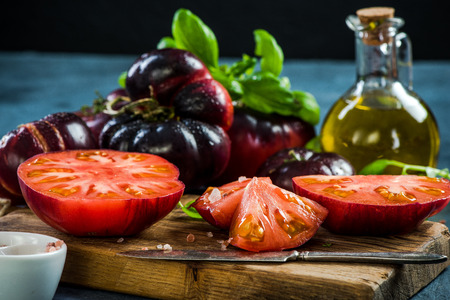 Crimea tomatoes halves for fresh salad.