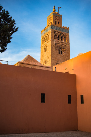 Tower of Koutoubia Mosque in Marrakesh,Morocco.