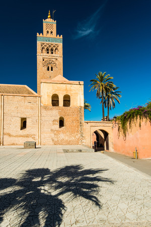 Koutoubia Mosque in Marrakesh,Morocco at sunny day.