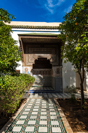 Garden of Bahia Palace in Marrakesh,Morocco..