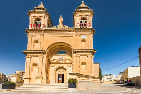 Paris church in Marsaxlokk, Malta.