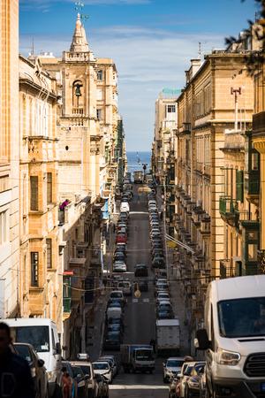 Street view in Valletta,Malta. Stok Fotoğraf