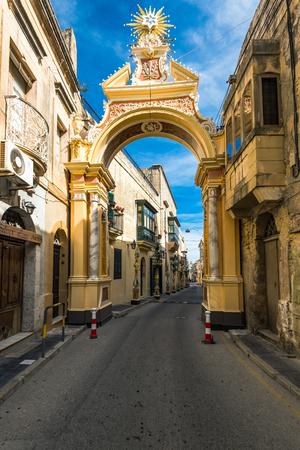 RABAT, MALTA - MARCH , 2018: Street of ancient town Rabat in Malta. Stock Photo - 97672616