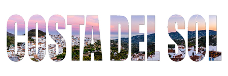 Costa del Sol letters isolated with image, panoramic view