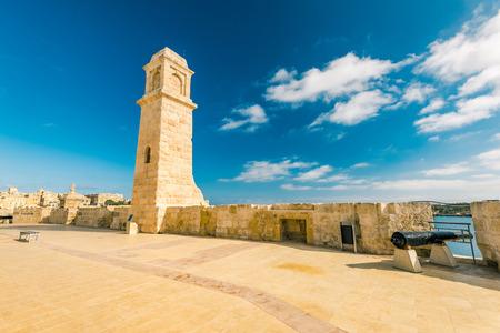 Fortifications in Birgu, Malta.