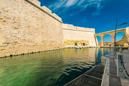 Marina in Fort Saint Angelo, Birgu, Malta.
