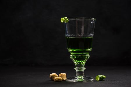Modern drink serving,Absinthe.