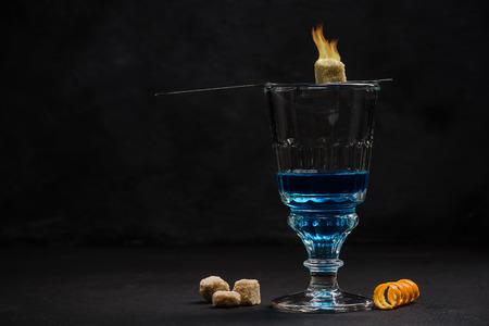 Absinthe, traditional Bohemian drinking set.