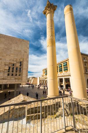 VALLETTA, MALTA - MARCH , 2018: Ruins of bombarded opera in Valletta,Malta. Sajtókép
