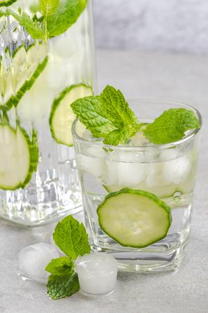 Cucumber and mint summer soda.