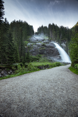 Road to Krimml Waterfalls in High Tauern National Park , Austria. Stock Photo