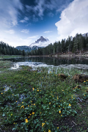 Lake Antorno, Three Peaks of Lavaredo, Tre Cime di Lavaredo, Dolomites, Italy