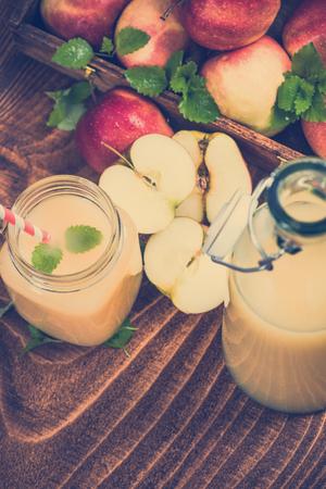 Freshly pressed cloudy apple juice