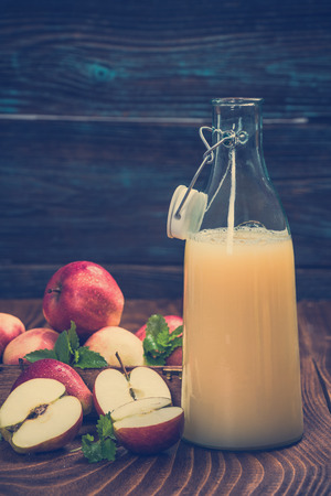 Cloudy pressed apple juice