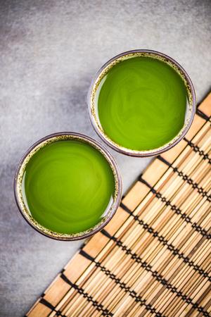 Tea ceremony, table top view Reklamní fotografie