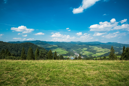 Pieniny Mountains Range in Lesser Poland at summer time