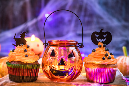 Sweet food decorated for Halloween. Stok Fotoğraf