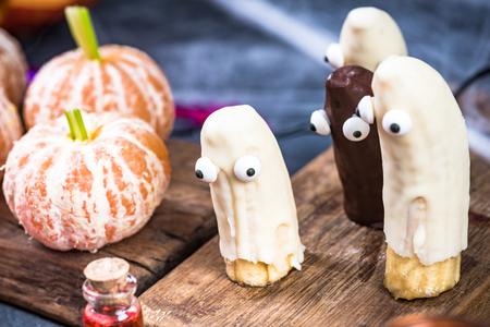 Kids Halloween party food. 写真素材