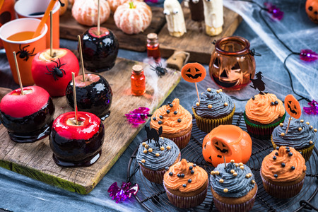 Kids Halloween party food. Stock Photo