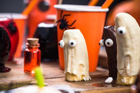 Festive food Halloween, kids party.