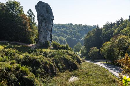 Rock called Hercules Club in Ojcow National Park, Poland.