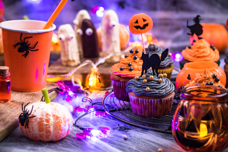 Homemade festive food for Halloween.