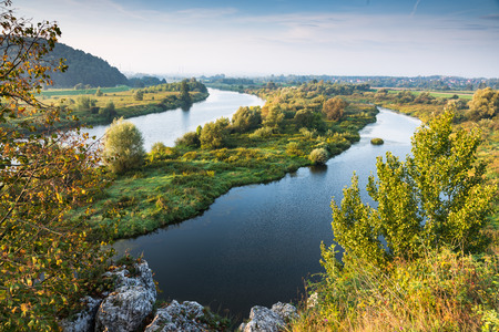 Vistula river near Cracow in Poland. 写真素材