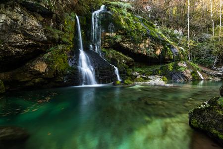 Virje waterfall in Slovenia.