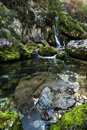 Long exposure, waterfall Virje in Slovenia.