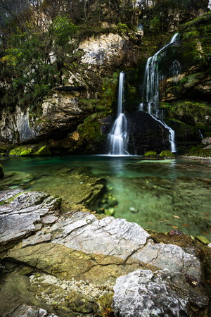Virje waterfall in Slovenia.