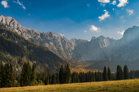 Autumn weather in Italian Alps.