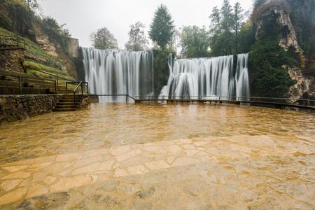 Waterfall in Jajce,Bosnia and Herzegovina.