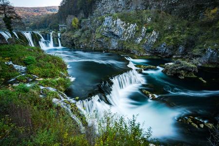 Strbacki buk waterfall on Una river, Bosnia and Croatia border. Long exposure. 写真素材 - 111423053