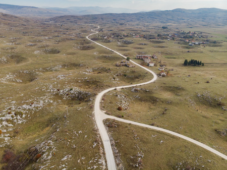 Post War landscape in Bosnia, Yugoslavia conflict zone. Stock Photo