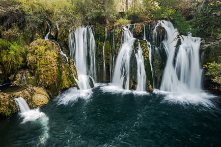 Great Una waterfalls in MArtin Brod, Bosnia and Herzegovina.