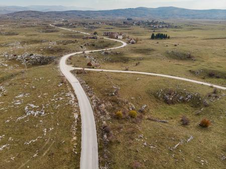 Ghost town destroyed in Balkan War in Yugoslavia,Bosnia.